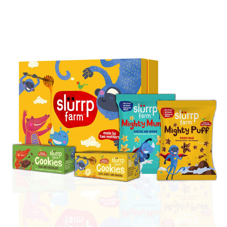Range of products of Slurrp Farm