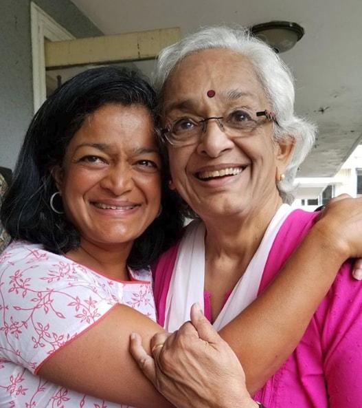 Rep. Pramila Jayapal with her mother.