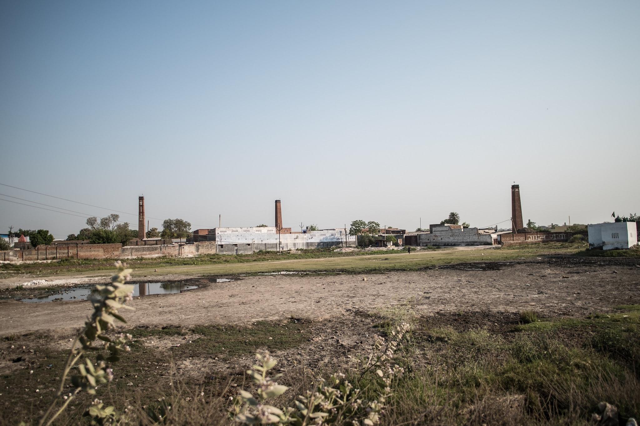 Coal-fired chimneys of yesteryear still stand tall in Khurja