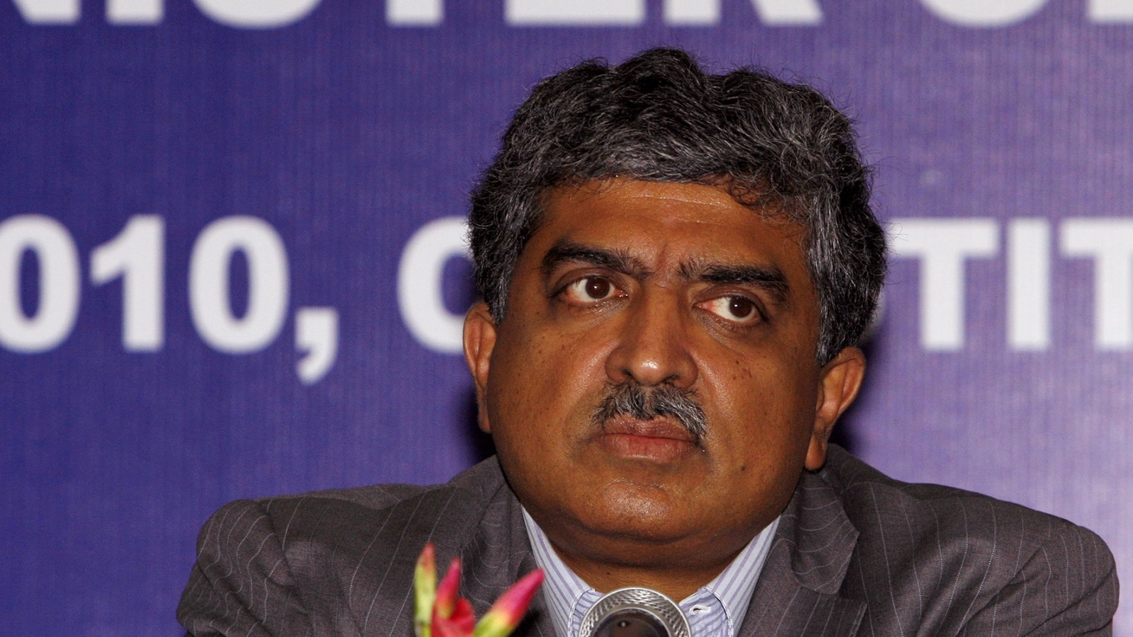 3:  Entrepreneur Nandan Nilekani comes third with over 25 lakh Twitter followers. (Photo by Sipra Das/India Today Group/Getty Images)