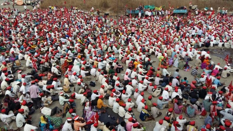 With a range of demands, over 35,000 farmers from Nashik gather in Mumbai to protest