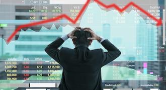 Sensex, Nifty fall sharply as rupee crosses 72.50 against dollar; bank, FMCG stocks drag