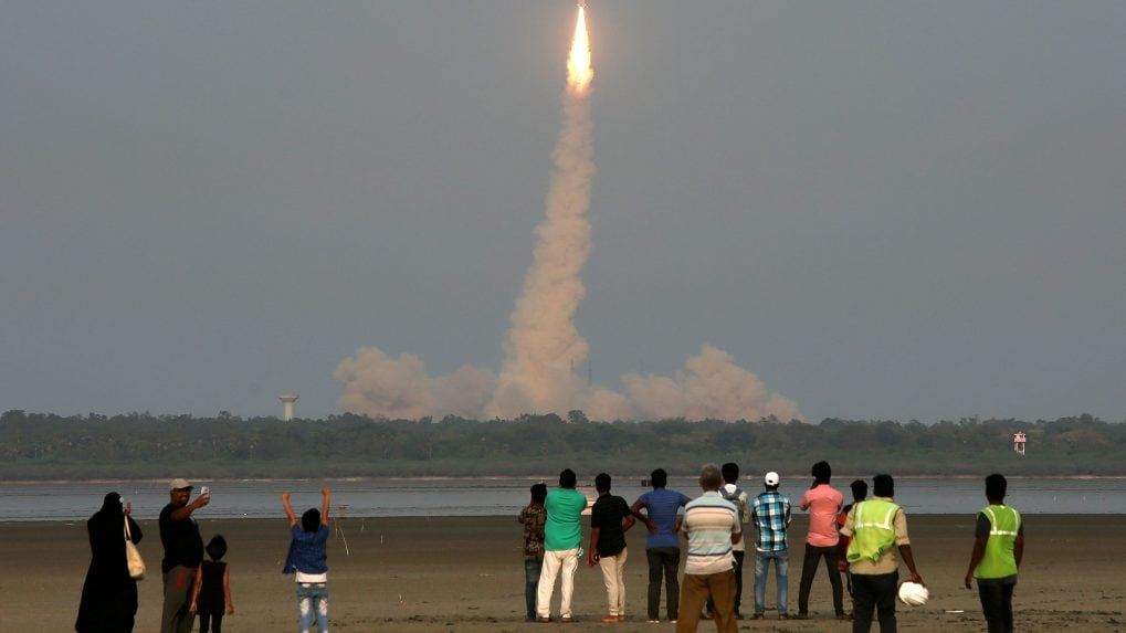 `First unmanned space mission in December 2019'