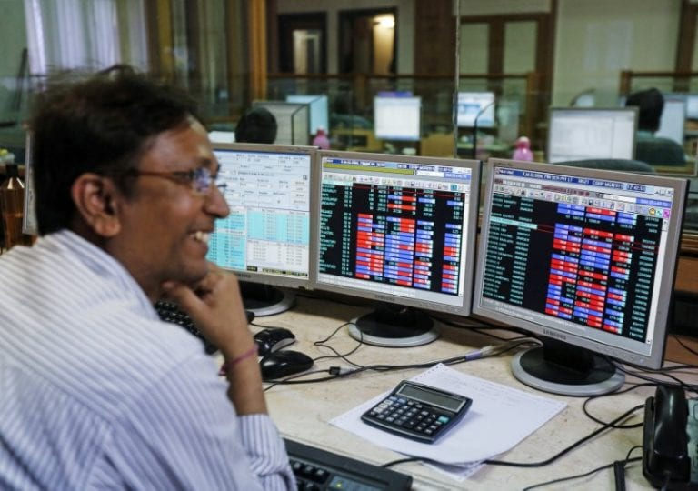 Sensex, Nifty halve gains after hitting record highs; ITC, Vedanta top losers