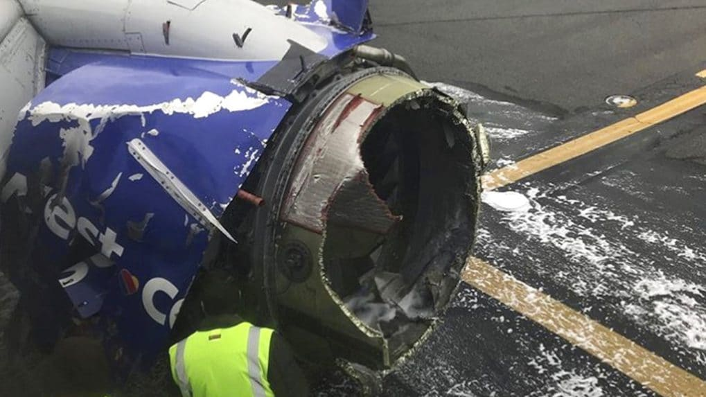 Mid-air horror; Jet blows an engine at 32,000 feet