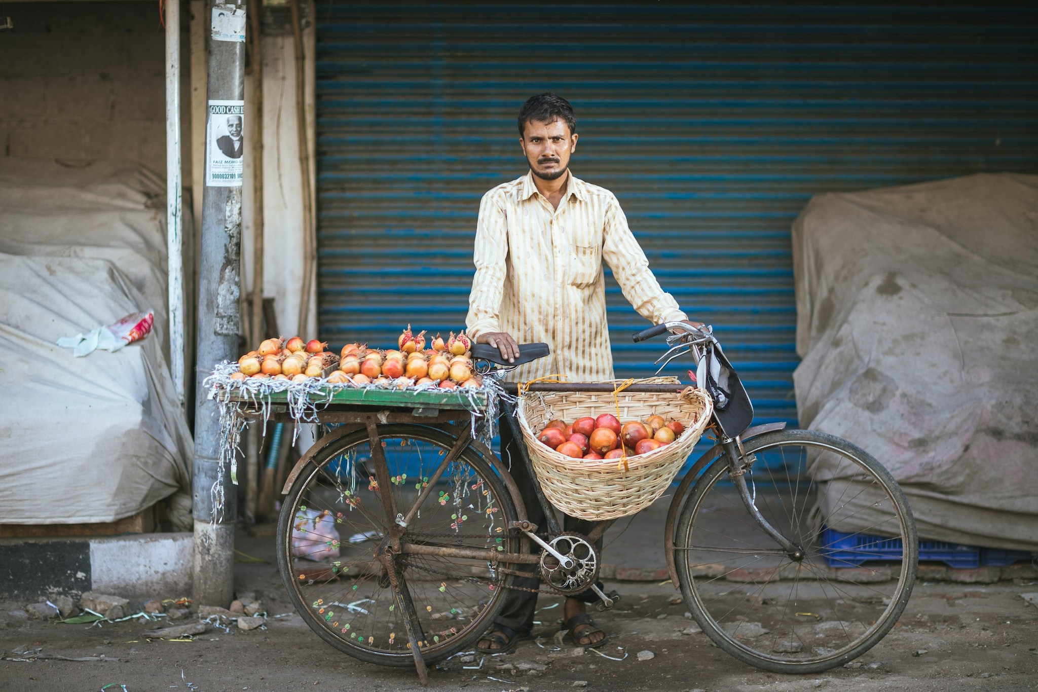 - The Fruit Seller. Ghouse sells up to 70-100 pieces of seasonal fruit every day between 6 am and 9 pm.
