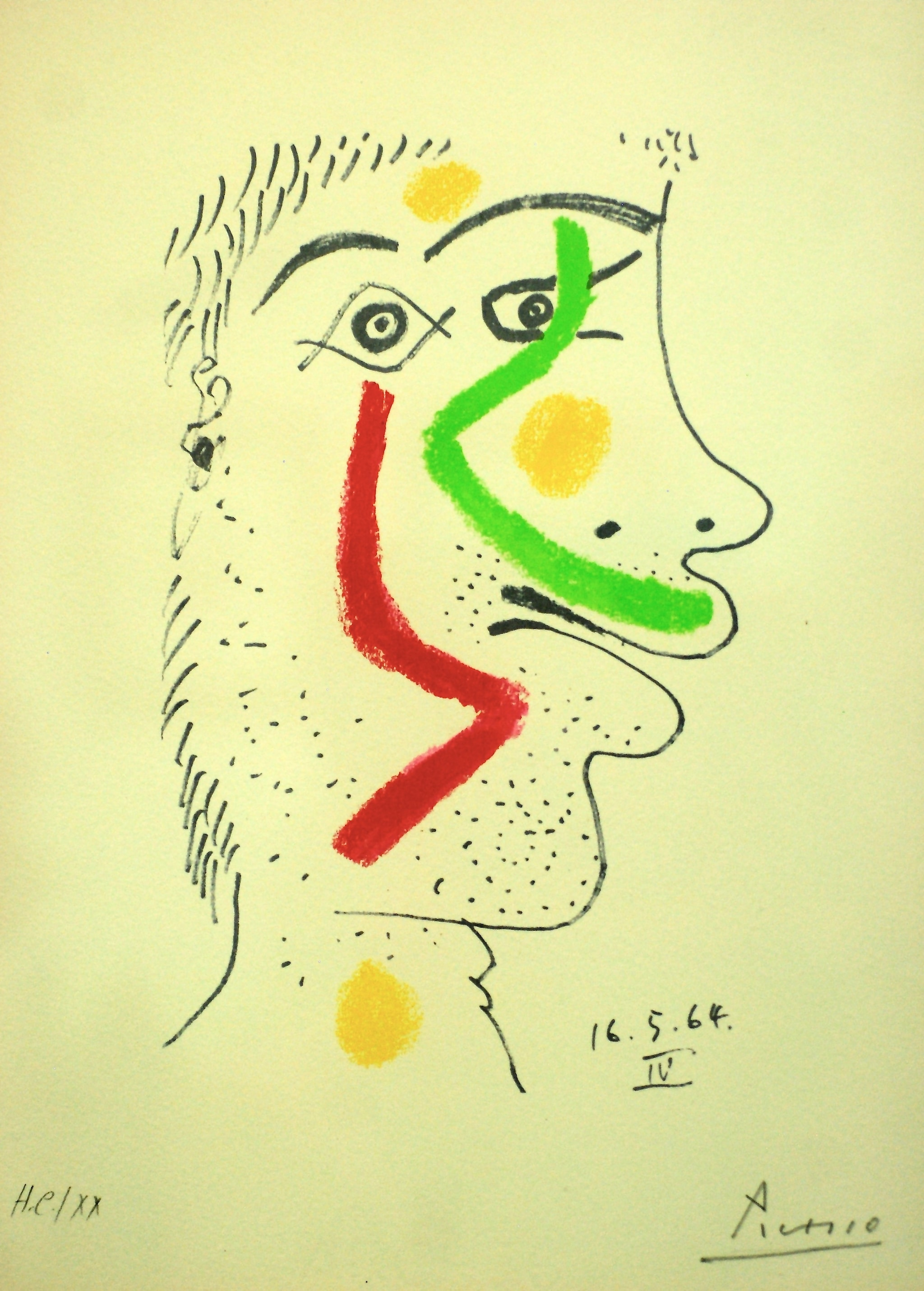 A Picasso drawing dated May 16, 1964.