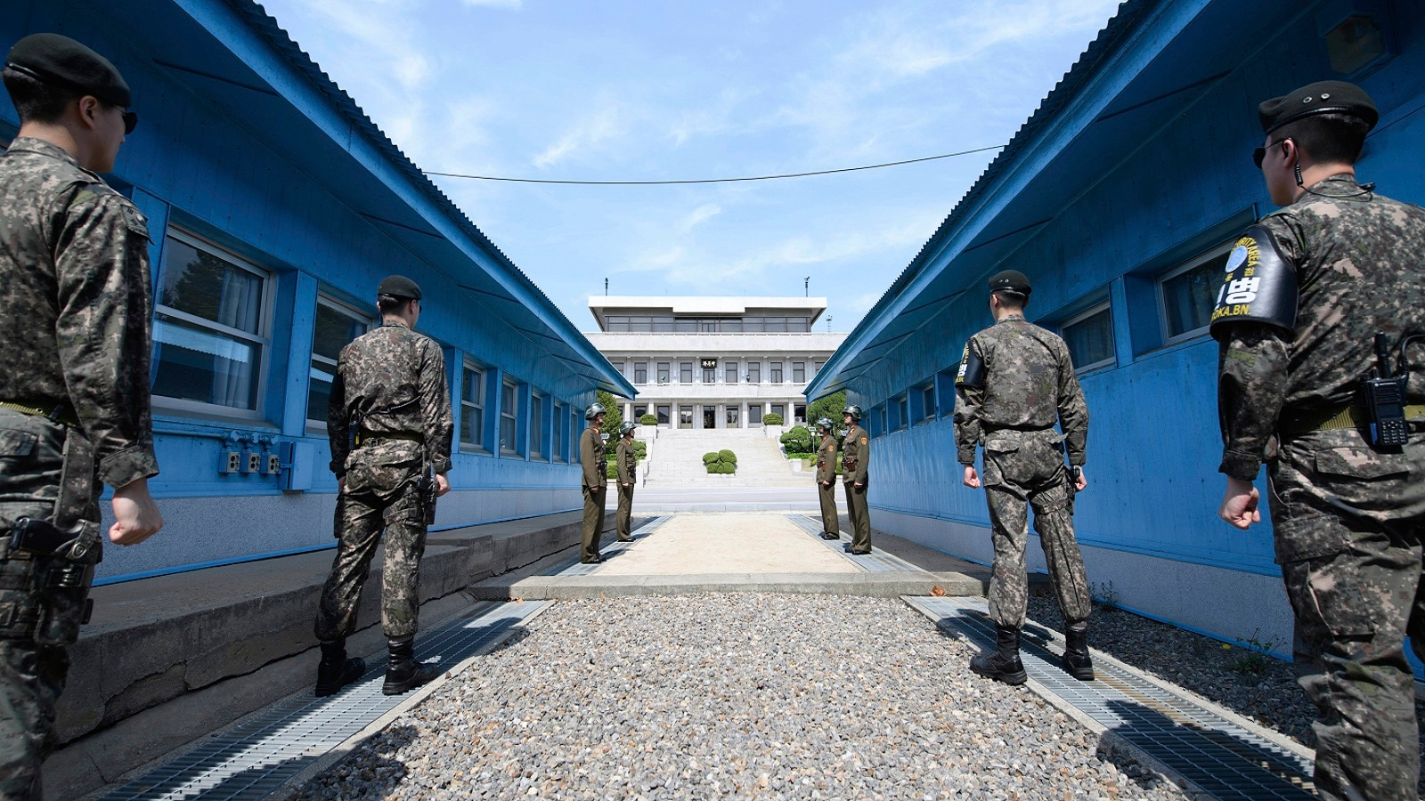 The two Koreas have been officially at war since the North invaded South in 1950.The tensions between the two nations that began as a result of the Cold war has turned the Korean border the most militarized zone in the world.Even two decades after the end of cold war, the situation remains unchanged in the peninsula. (Hwang Kwang-mo/Yonhap via AP)