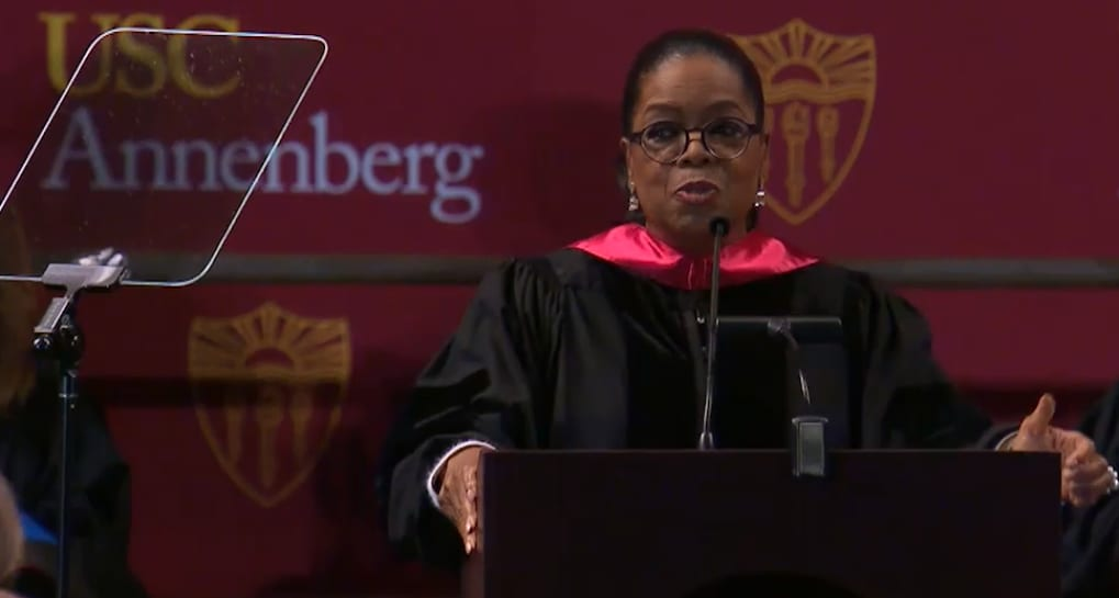 Oprah to the class of 2018: 'Your job is not who you are'