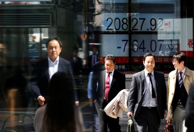 1. Asia: MSCI's broadest index of Asia-Pacific shares outside Japan was unchanged in early trade. Japan's Nikkei was up 1.1 percent after a market holiday on Monday. (Image: Reuters)