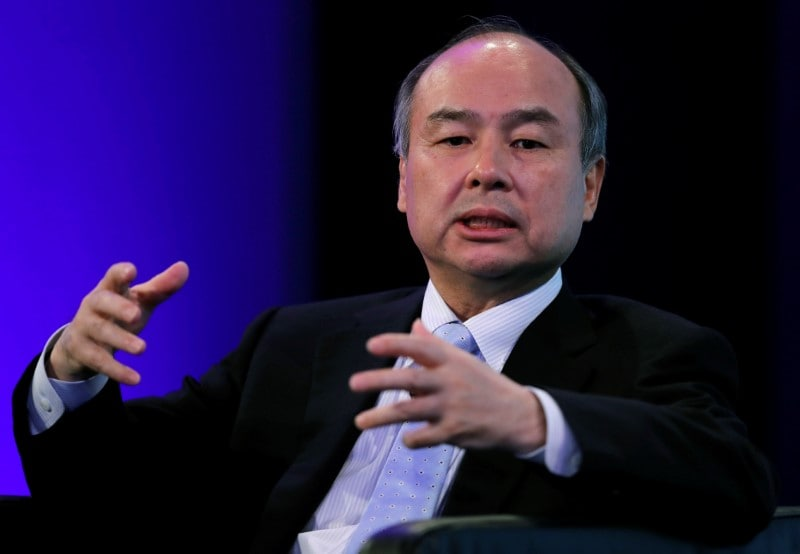 SoftBank Group Corp Chairman and CEO Masayoshi Son speaks during the Wall Street Journal CEO Conference in Tokyo, Japan May 15, 2018. REUTERS/Toru Hanai