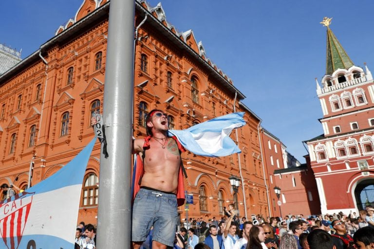 World Cup fans upset at barriers on Red Square