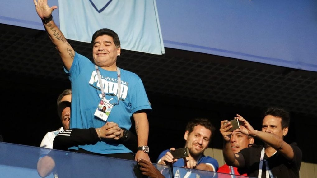 Diego Maradona is Argentina's biggest fan and distraction
