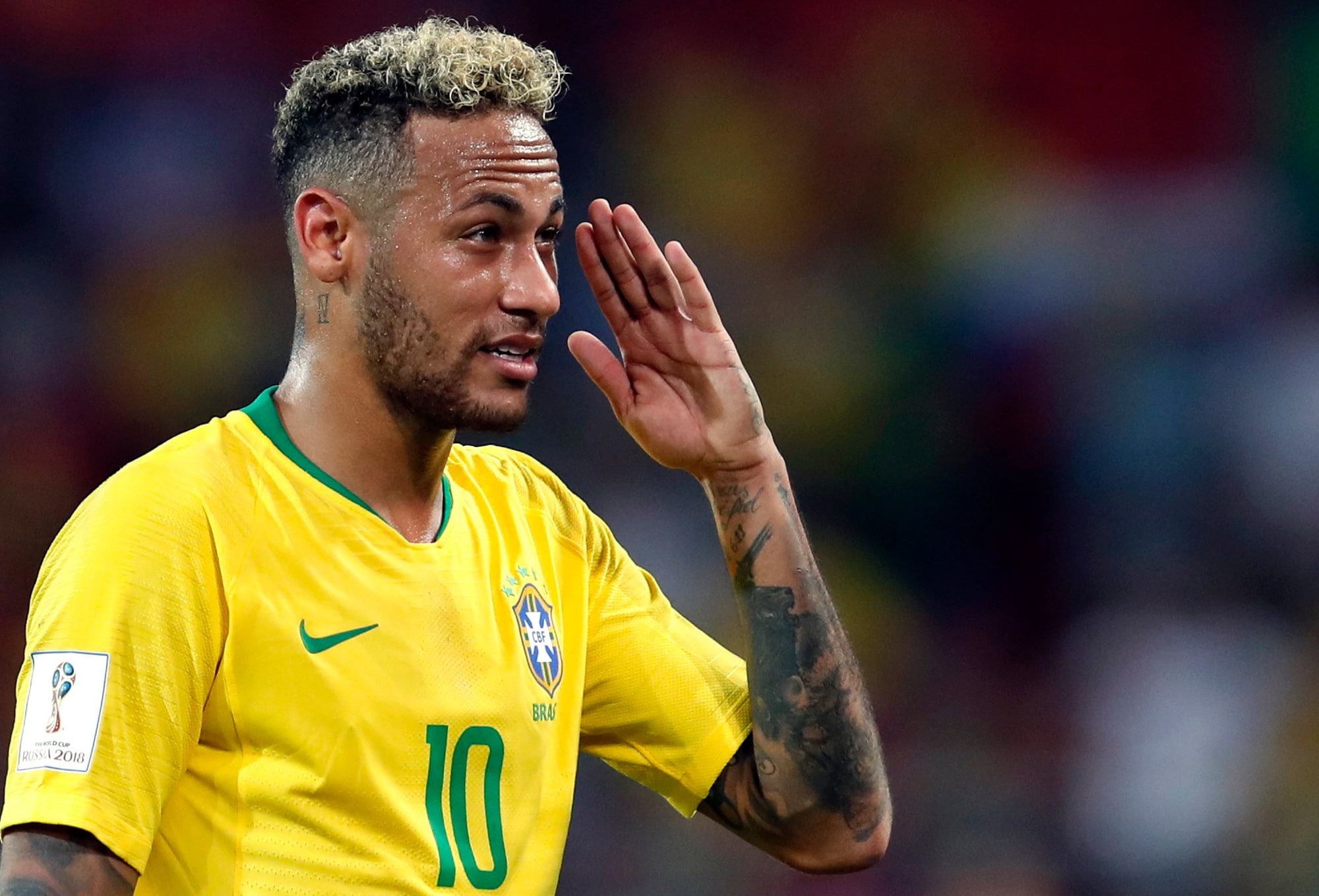 #7. Neymar: Net Worth: $105 million: The Brazilian footballer is the second most popular athlete on social media with 200 million followers on Facebook, Instagram and Twitter. He is on a five-year contract with Paris Saint-Germain through June 2022 worth $350 million in salary. His transfer from Barcelona to PSG stands as the most expensive in the world at $263 million, which the French club paid in full ahead of his signing. (Image: AP)