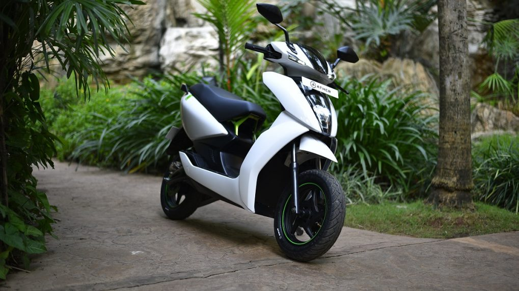 Ather Energy launches electric scooter for Rs 1.24 lakh