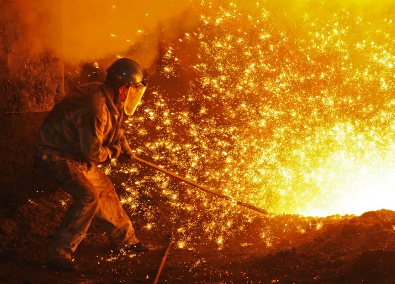 OCL Iron and Steel climbed 4.4 percent to hit its 52-week high of Rs 8.15 per share. (Image: Reuters)