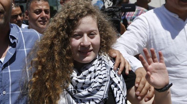 Palestinian protest icon Ahed Tamimi goes from jail cell to VIP suite