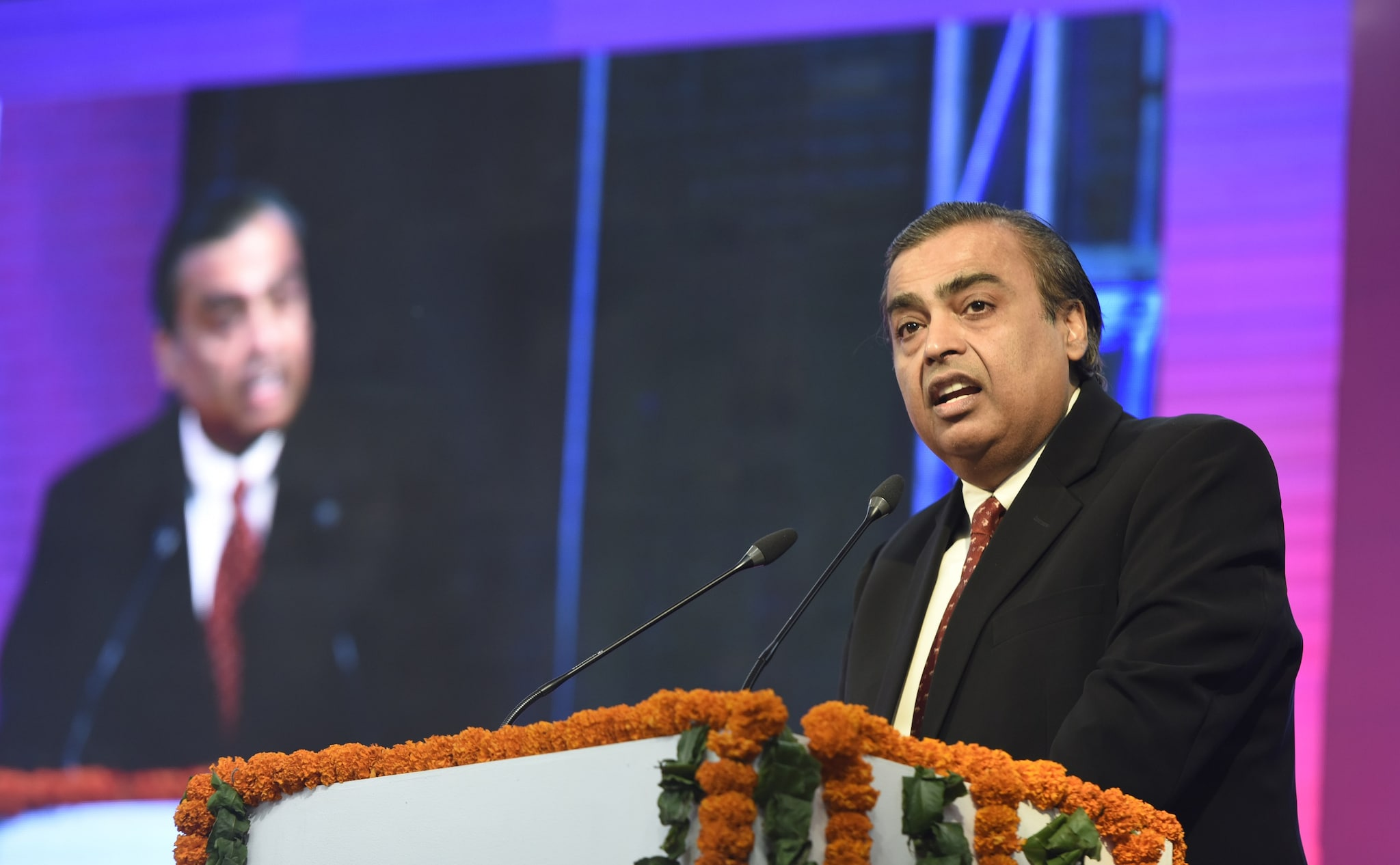 India's richest man and the chairman of Reliance Industries, Mukesh Ambani. (Image: Getty Images)