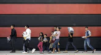 A glimpse of those crossing the US-Mexico border
