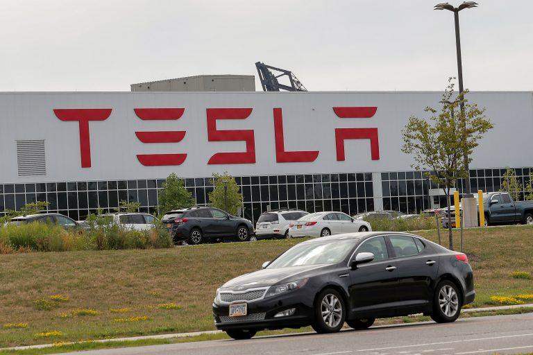 Watch: Rare access inside Tesla's Gigafactory