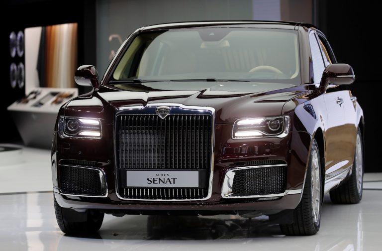 Russia shows off new luxury sedan, Putin limousine