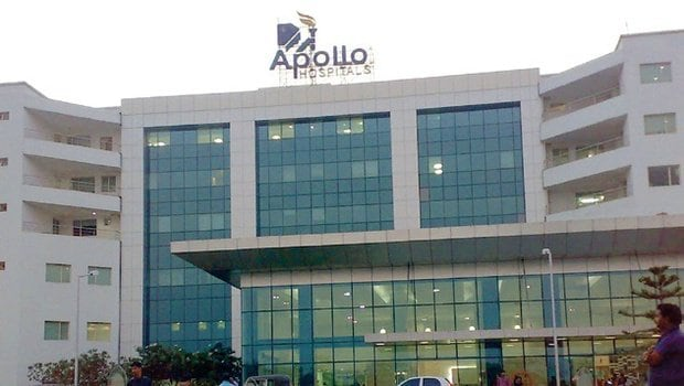 Apollo Hospitals rose 9.26 percent to hit its 52-week high of Rs 1,445 per share on the NSE. (Image: Company)