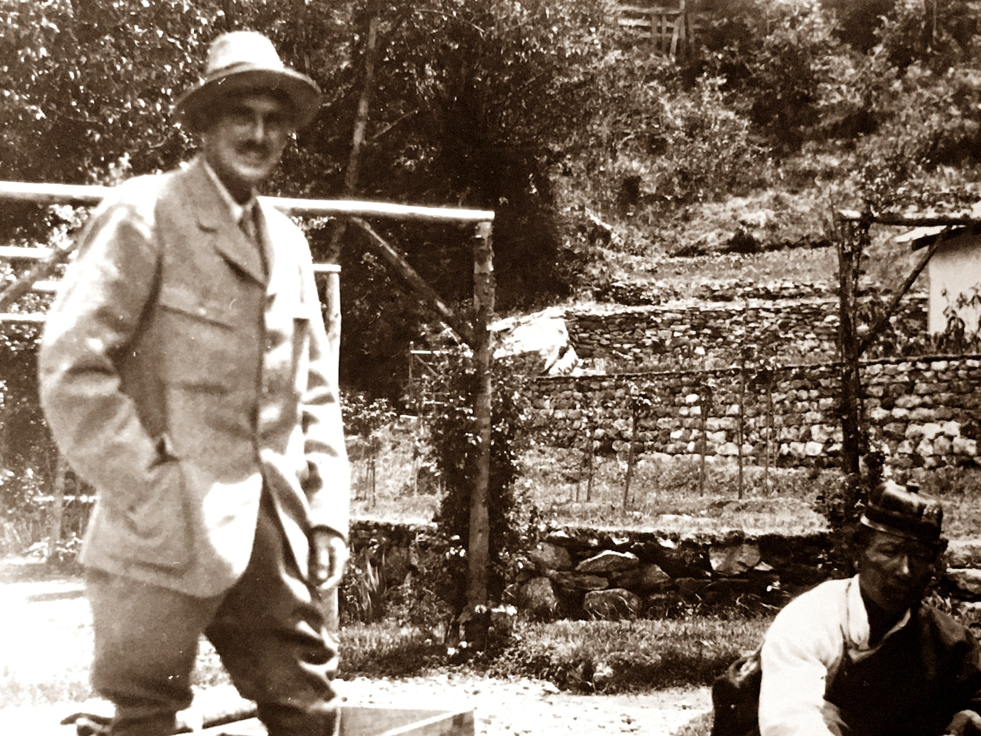 Dr Ernest Tooke Jameson in an Indian tea estate (circa 1920)