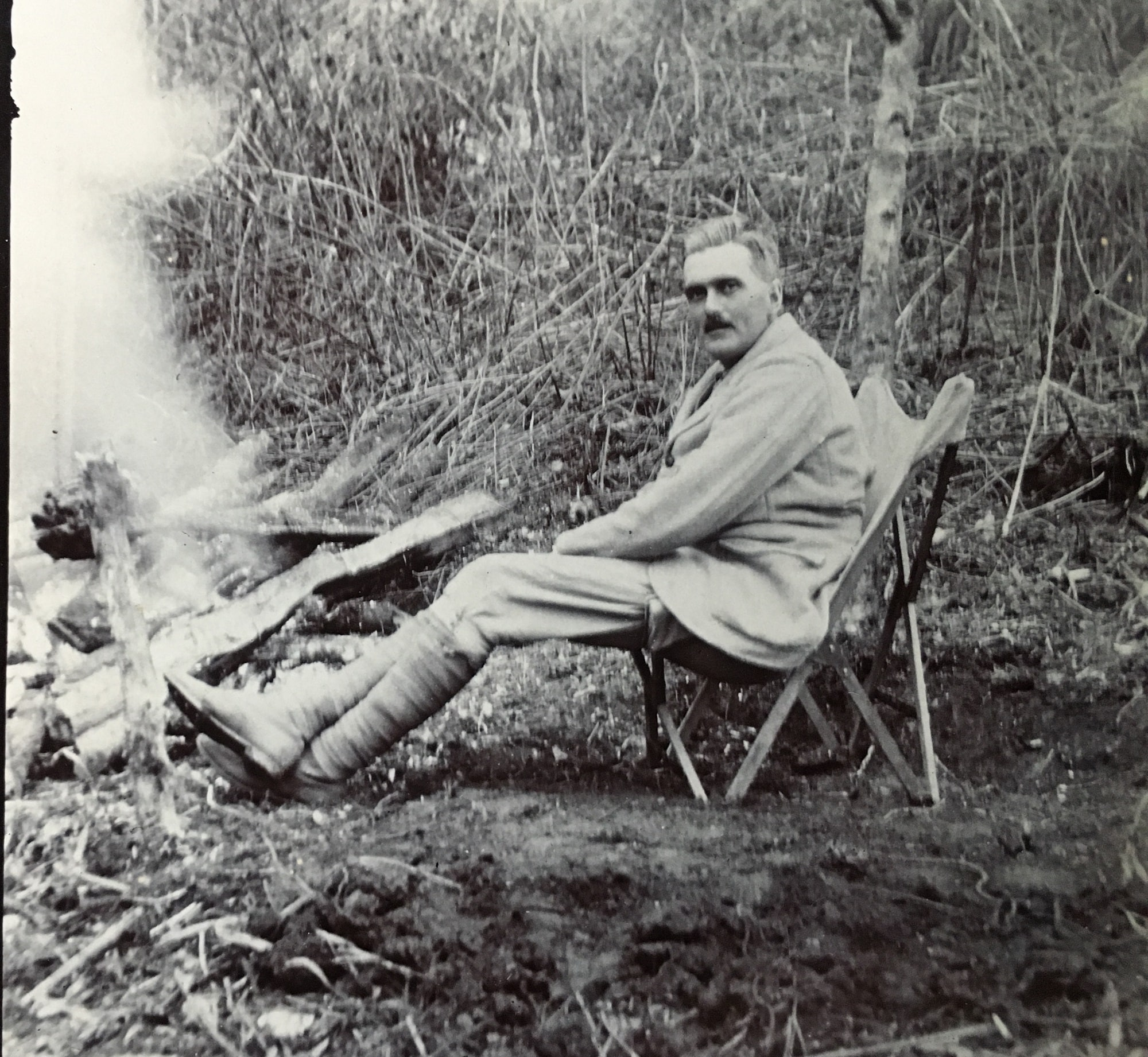 Dr Ernest Tooke Jameson during an expedition around 1920
