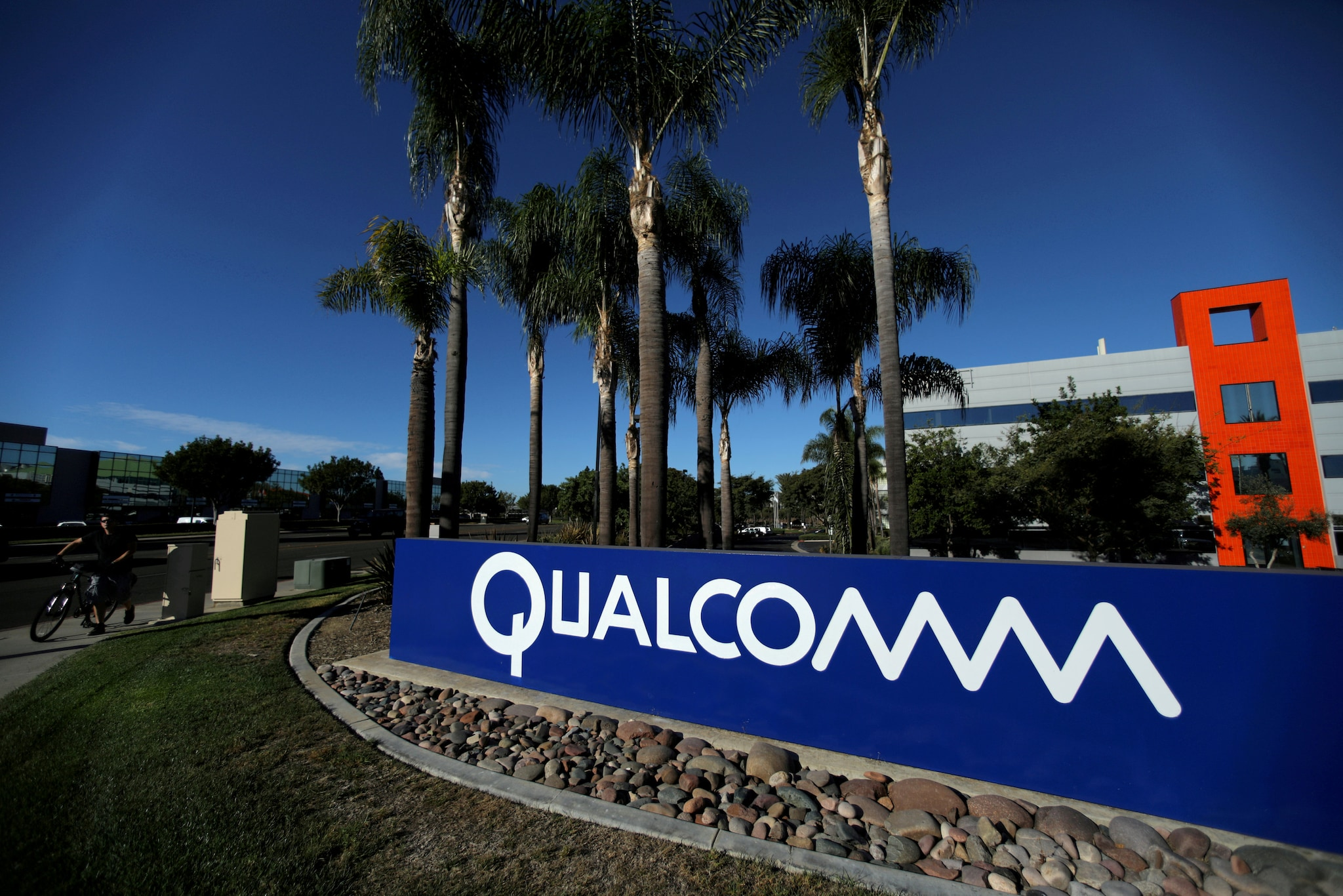 25. Qualcomm: Qualcomm is a US-based multinational telecommunications equipment company that designs and markets wireless telecommunications products and services. (Image: Reuters)
