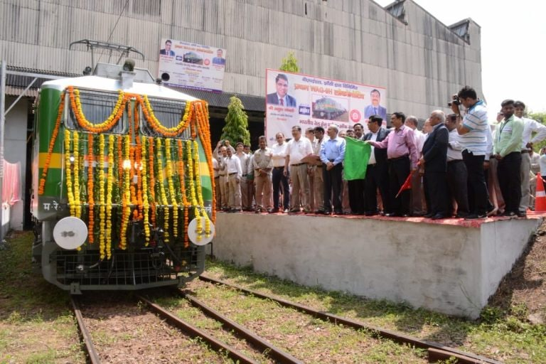 BHEL flags off its first 6,000 HP electric locomotive