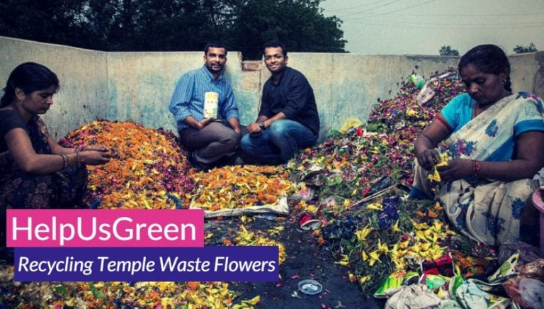 The perks of recycling temple flower waste