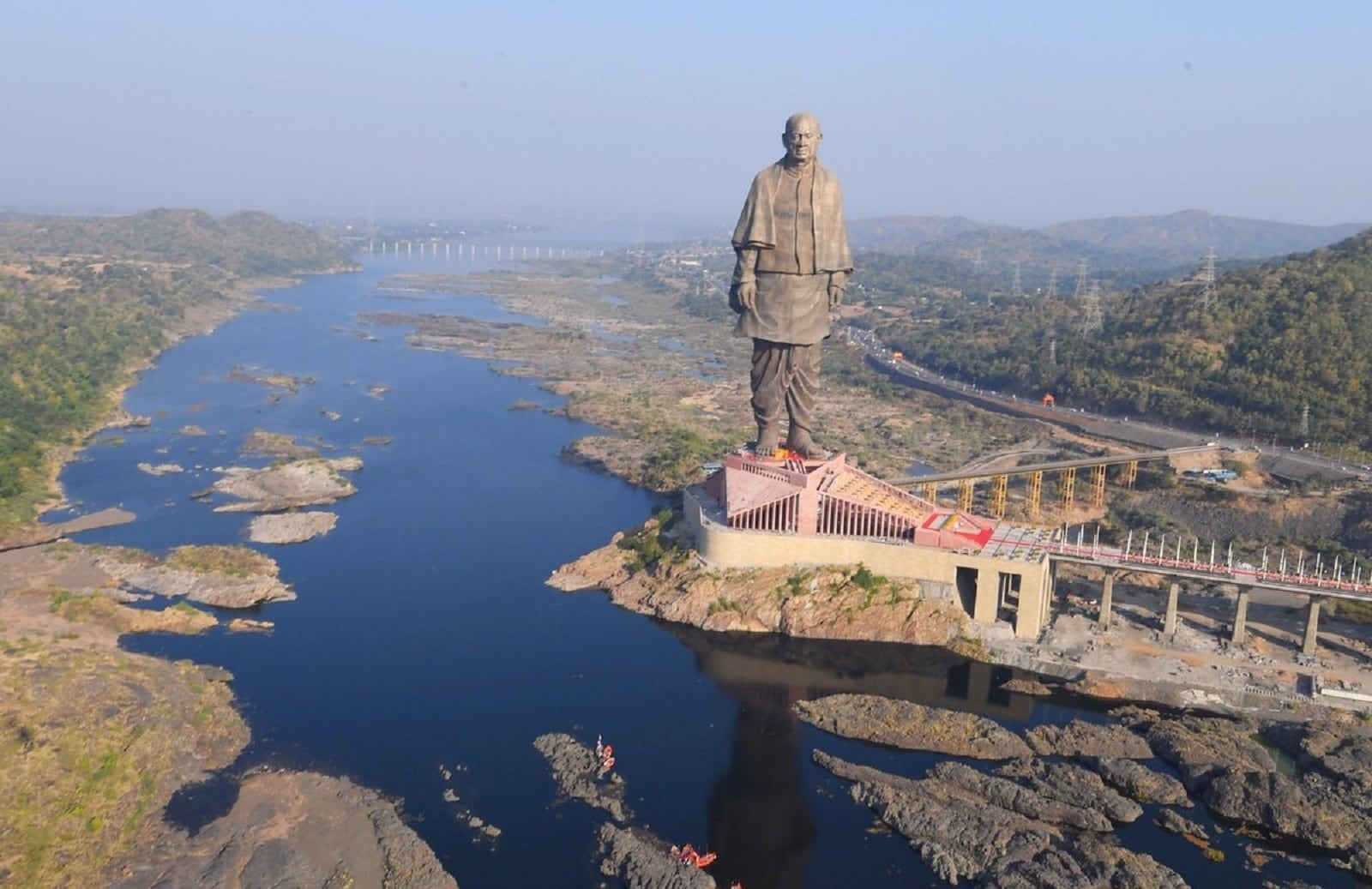 #31. Statue of Unity, Gujarat, India: The world's tallest statue, which was unveiled last year, stands at 597 ft. on an island in the Narmada River. It towers over the Sardar Sarovar Dam in the western Indian state of Gujarat, offering visitors the chance to see views of the nearby mountain ranges from its chest. The tourist attraction pays homage to Sardar Vallabhbhai Patel, who became India's first deputy prime minister in 1947. (Image: IANS)