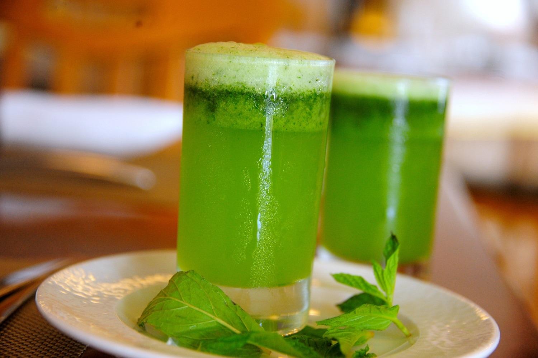 Mint Lemonade, a Middle Eastern mint, lemon, sugar drink