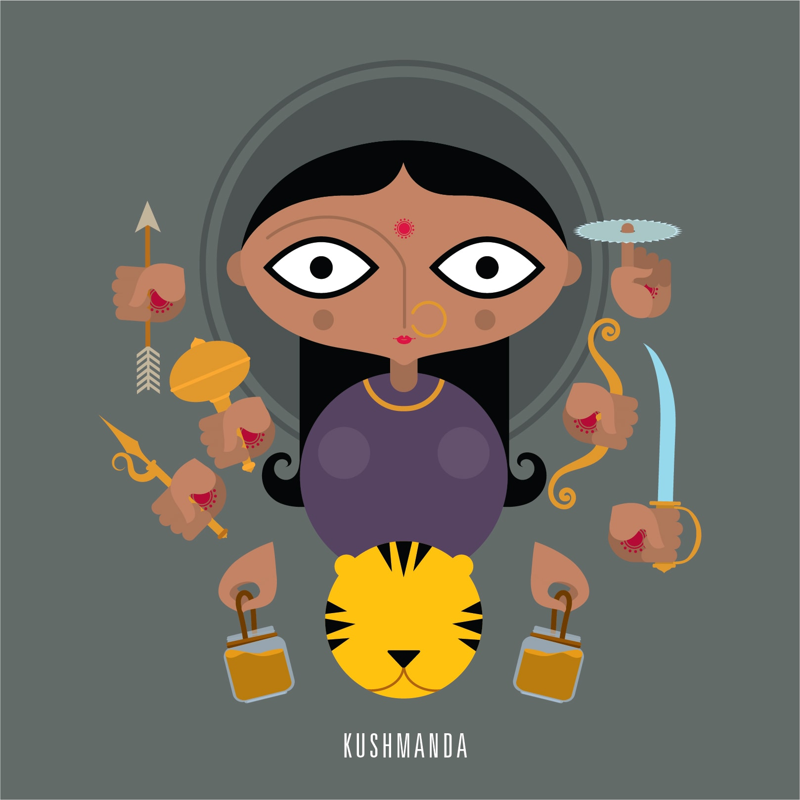 4. She is the fourth form of the Hindu goddess Durga. Ku means