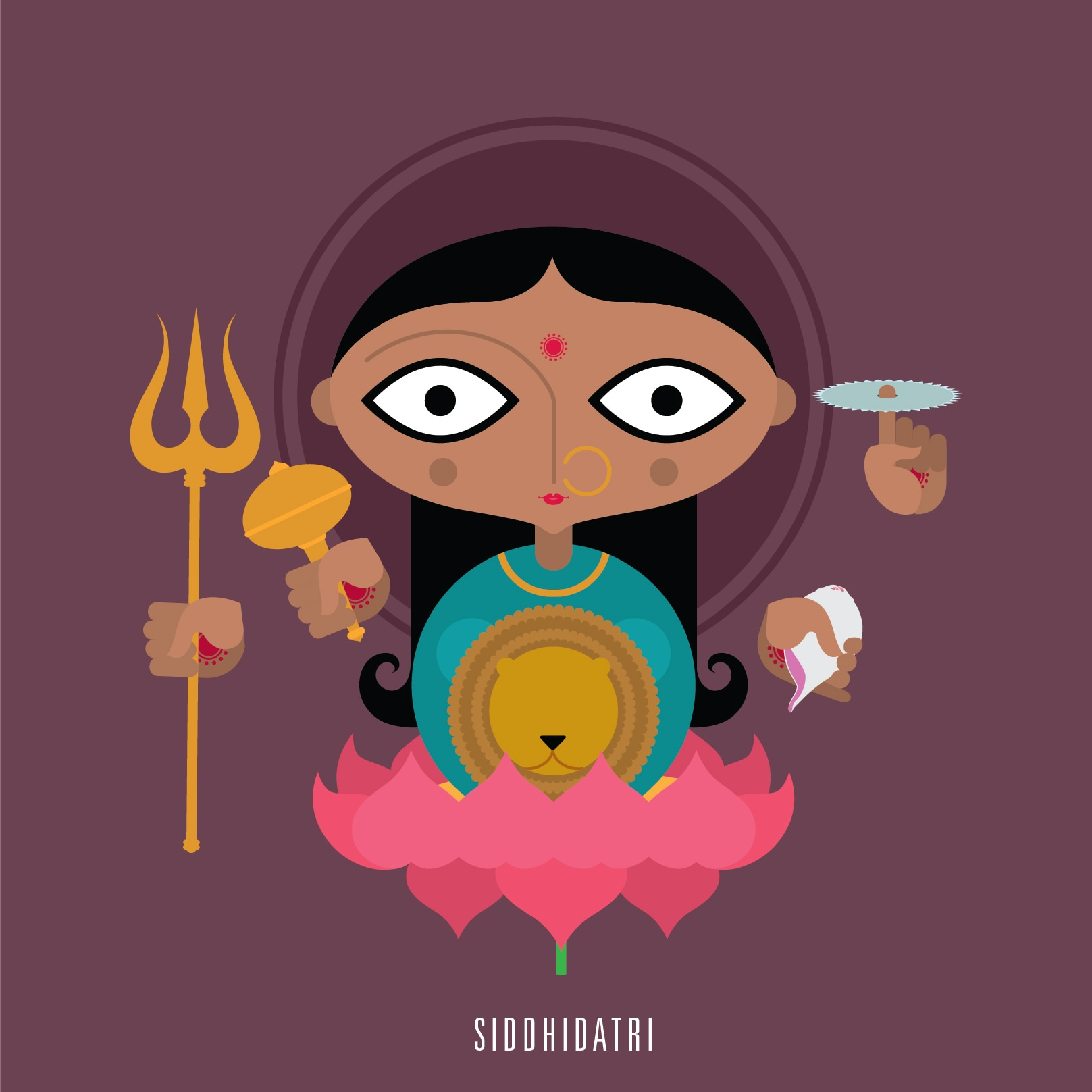 9. The ninth avatar of Goddess Durga has supernatural healing powers. She manifests as the Mother Goddess and blesses all gods, saints, yogis, tantric and devotees.