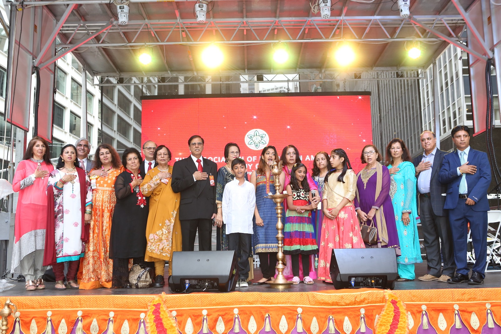 The AIA Committee at Deepavali Mela at South Street Seaport.