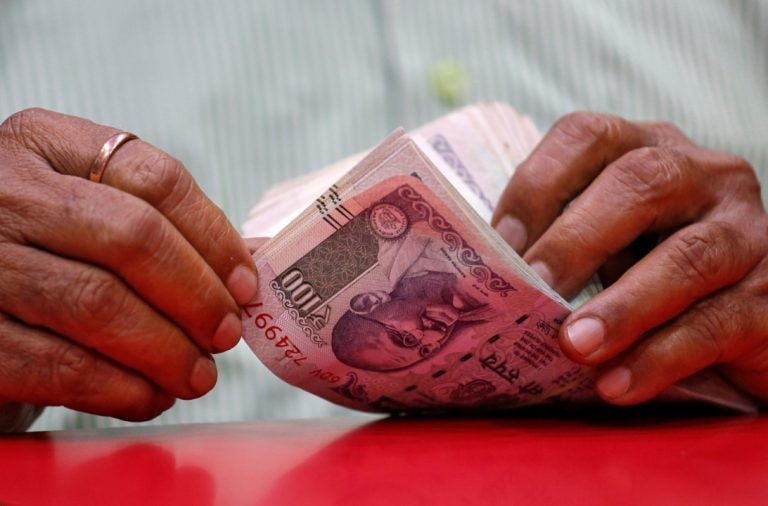 US dollar ends sharply lower against rupee