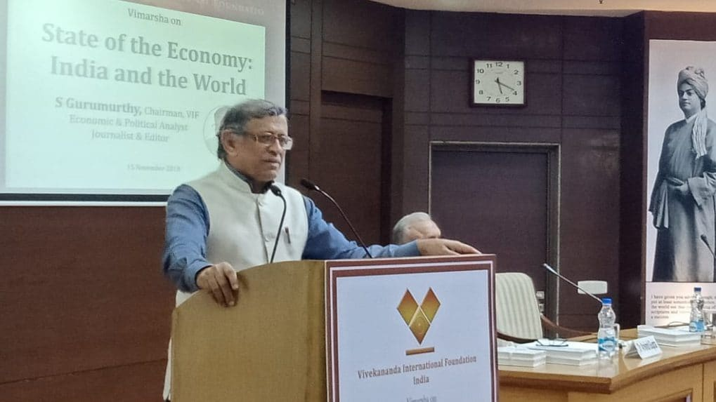 Liquidity problem could have been handled if power to print currency was in government's hand, says S Gurumurthy