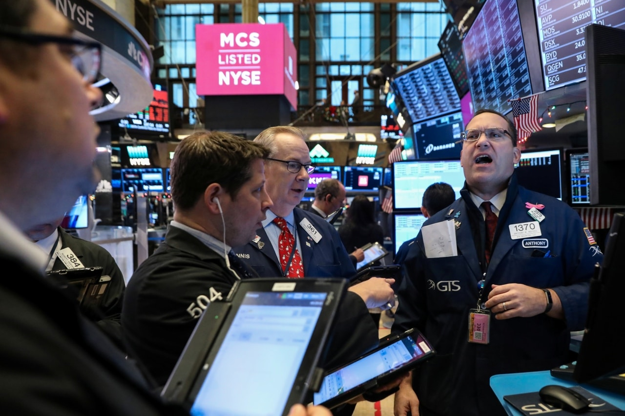 2. US: The Dow Jones Industrial Average rose 60.14 points, or 0.23 percent, to 26,091.95, the S&P 500 gained 3.44 points, or 0.12 percent, to 2,796.11 and the Nasdaq Composite added 26.92 points, or 0.36 percent, to 7,554.46. (Image: Reuters)