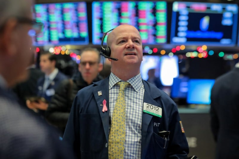 2. US: A gauge of world stock markets was flat on Wednesday as US data that raised concerns about a slowing economy was offset by a solid start to earnings season, while sterling was volatile as negotiations on a Brexit deal continued. The Dow Jones Industrial Average fell 22.82 points, or 0.08 percent, to 27,001.98. The S&P 500 lost 5.99 points, or 0.20 percent, to 2,989.69 and the Nasdaq Composite dropped 24.52 points, or 0.3 percent, to 8,124.18. (Image: Reuters)