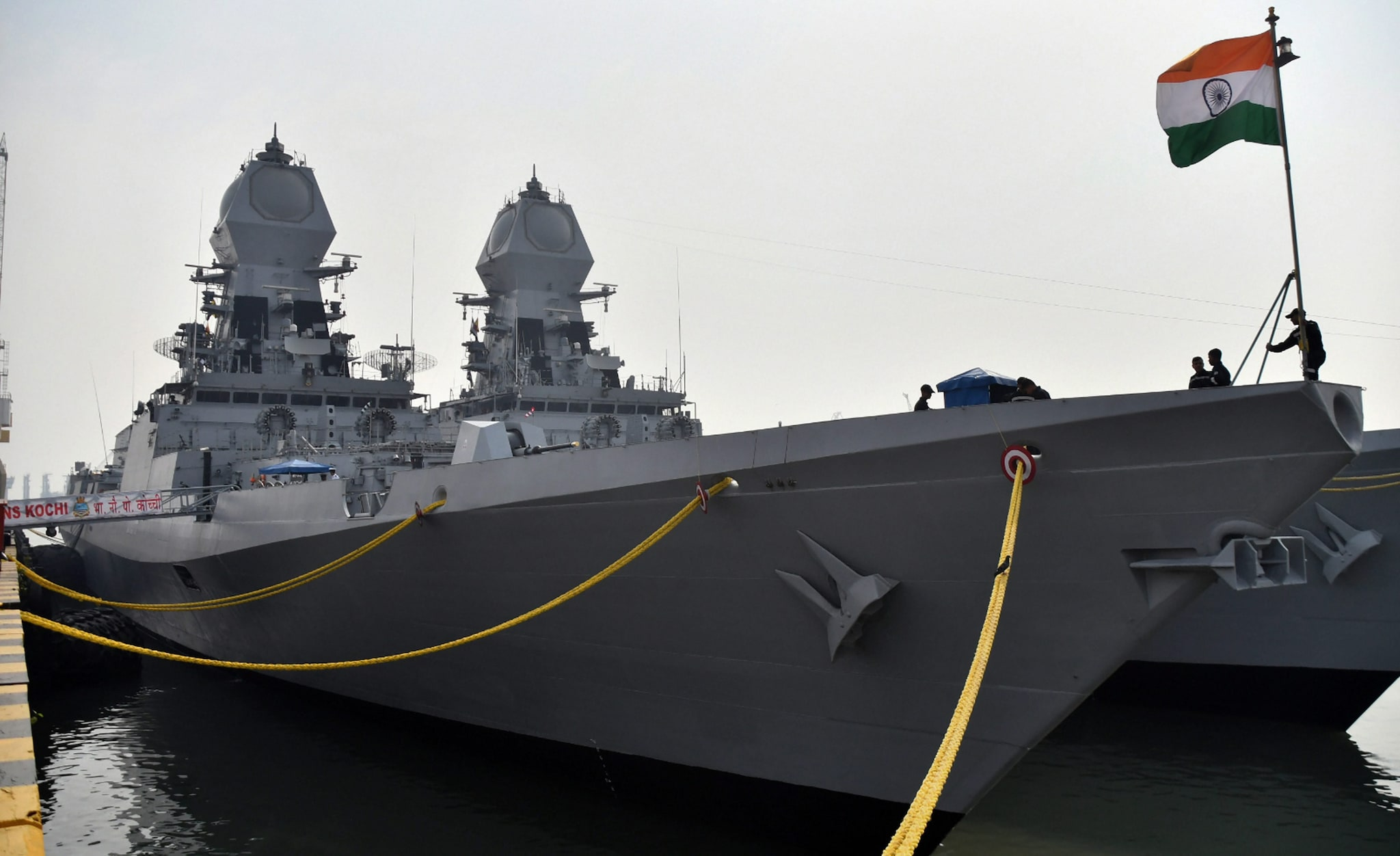 INS Kochi is seen at Mumbai harbour ahead of the Navy day celebration, in Mumbai, Monday, December 03, 2018. (PTI Photo)