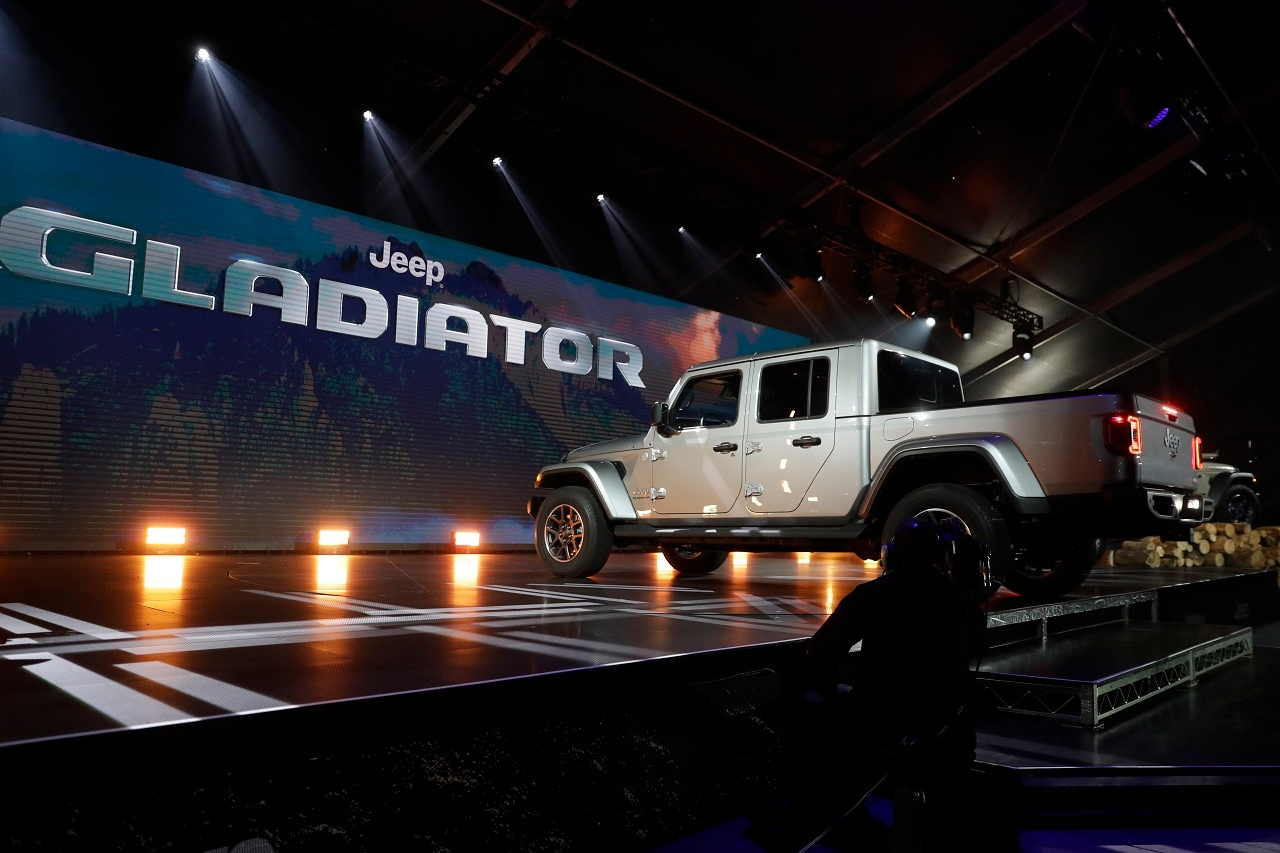 A 2020 Jeep Gladiator is shown during the Los Angeles Auto Show on Wednesday, Nov. 28, 2018, in Los Angeles. (AP Photo/Chris Carlson)