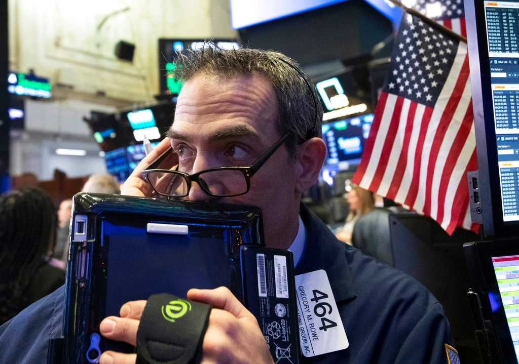 2. US: The Dow Jones Industrial Average rose 4.74 points, or 0.02 percent, to 24,819.78, the S&P 500 lost 7.61 points, or 0.28 percent, to 2,744.45 and the Nasdaq Composite dropped 120.13 points, or 1.61 percent, to 7,333.02. (Image: AP)