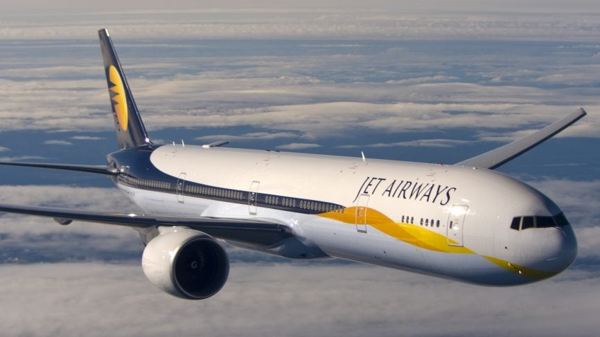 Jet Airways: Lenders of the cash-strapped airline will meet today to discuss interim funding plans. In other news, the airline on Wednesday said it deferred the March salary payment to its employees and will provide an update by April 9, 2019. (stock image)