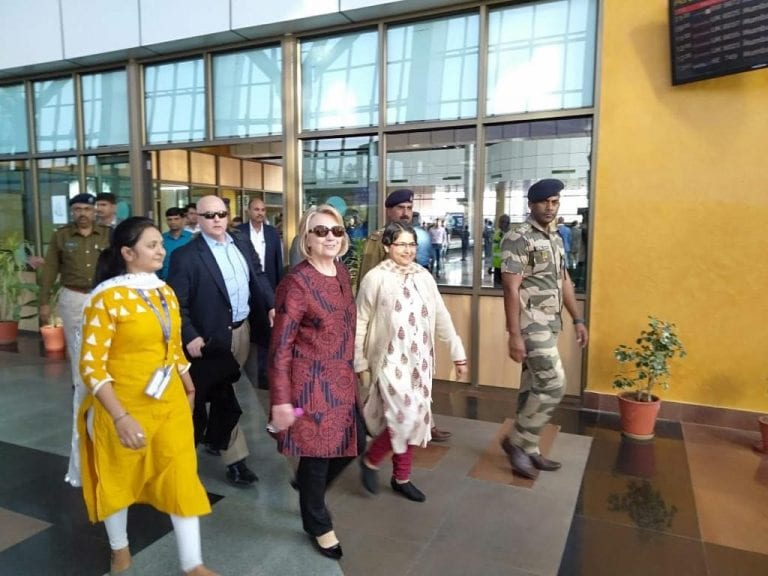 Hillary Clinton Arrives in Udaipur For Isha Ambani's Wedding