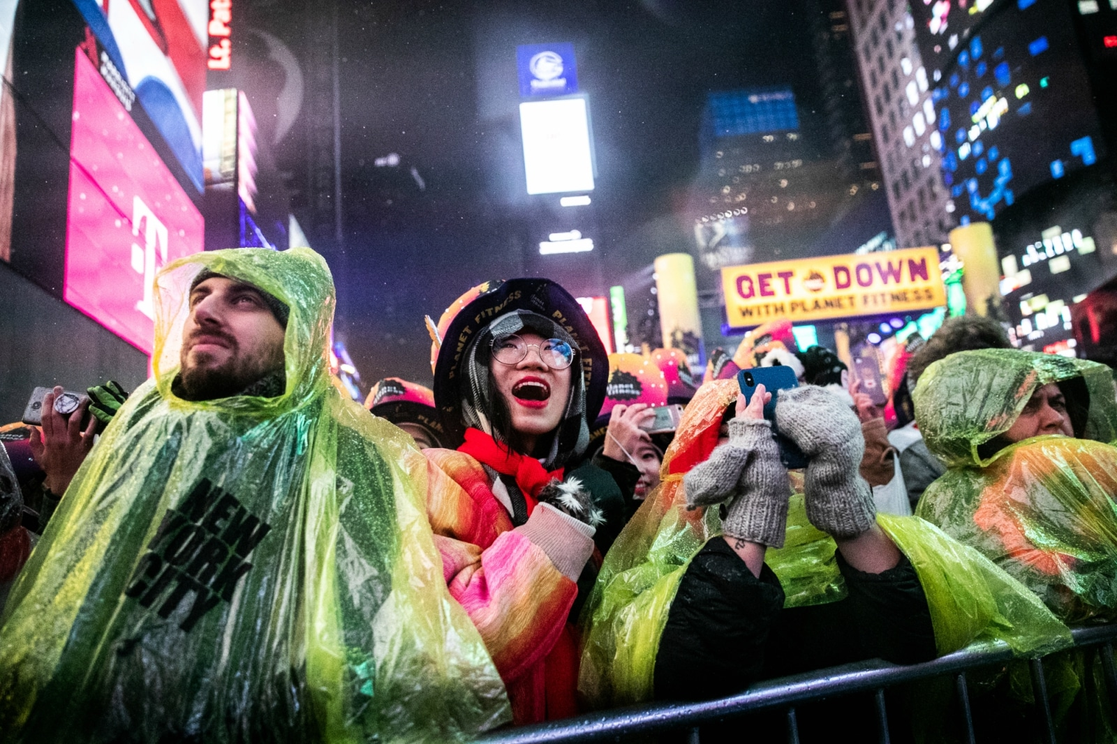 Revelers celebrate New Year's Eve in Times Square, in the Manhattan borough of New York, US, December 31, 2018. REUTERS/Jeenah Moon