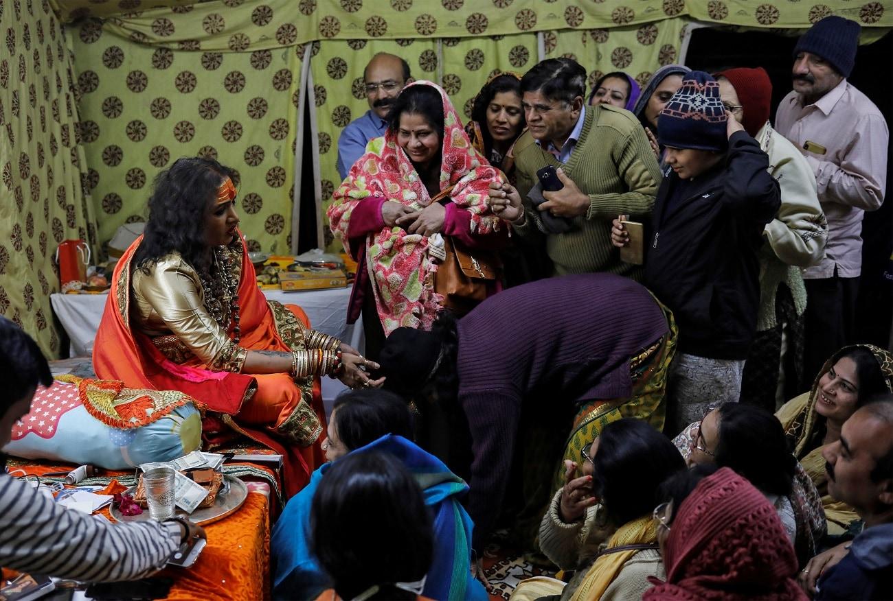 Laxmi Narayan Tripathi meets her followers during