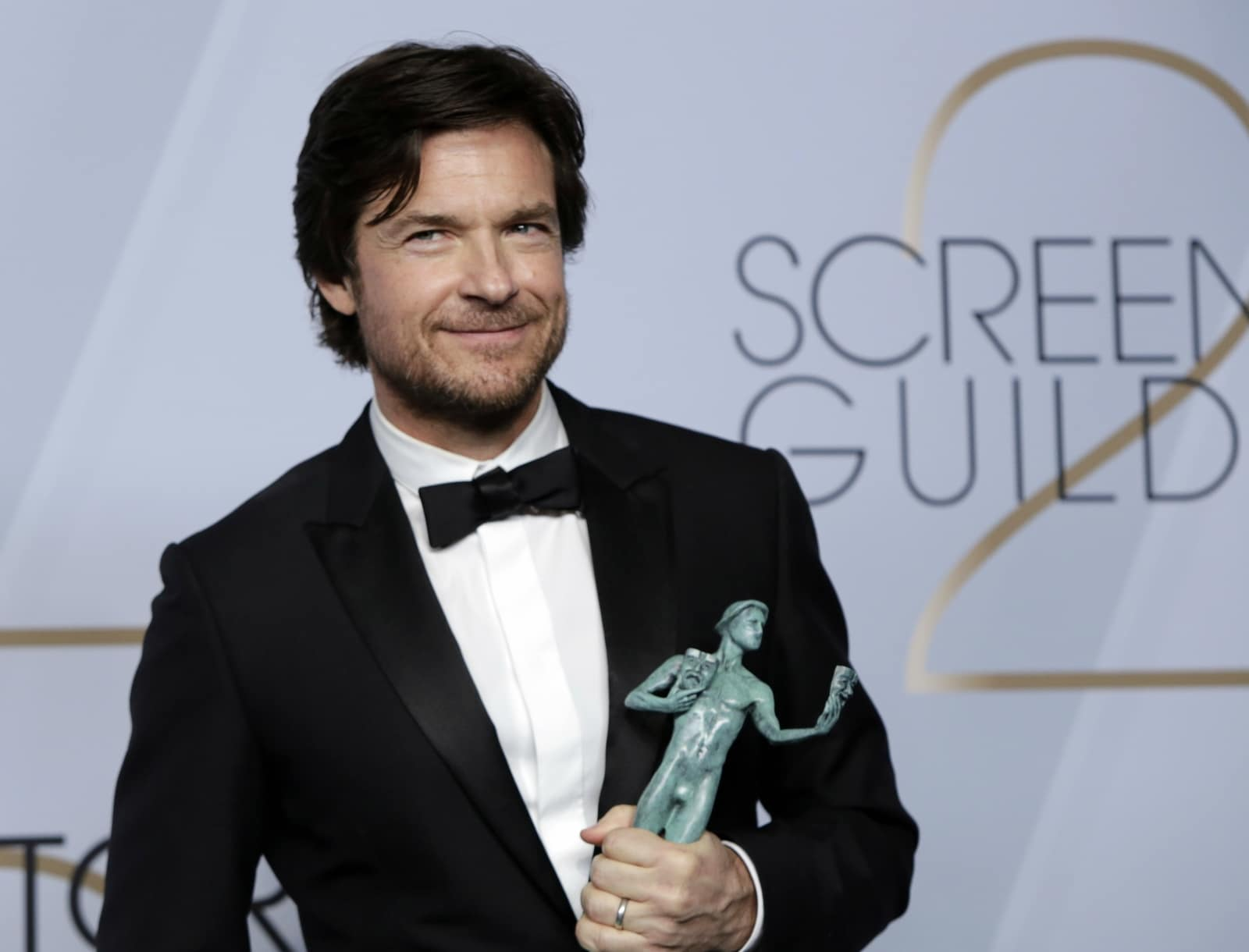 25th Screen Actors Guild Awards – Photo Room – Los Angeles, California, US, January 27, 2019 - Jason Bateman poses backstage with his Outstanding Performance by a Male Actor in a Drama Series award for