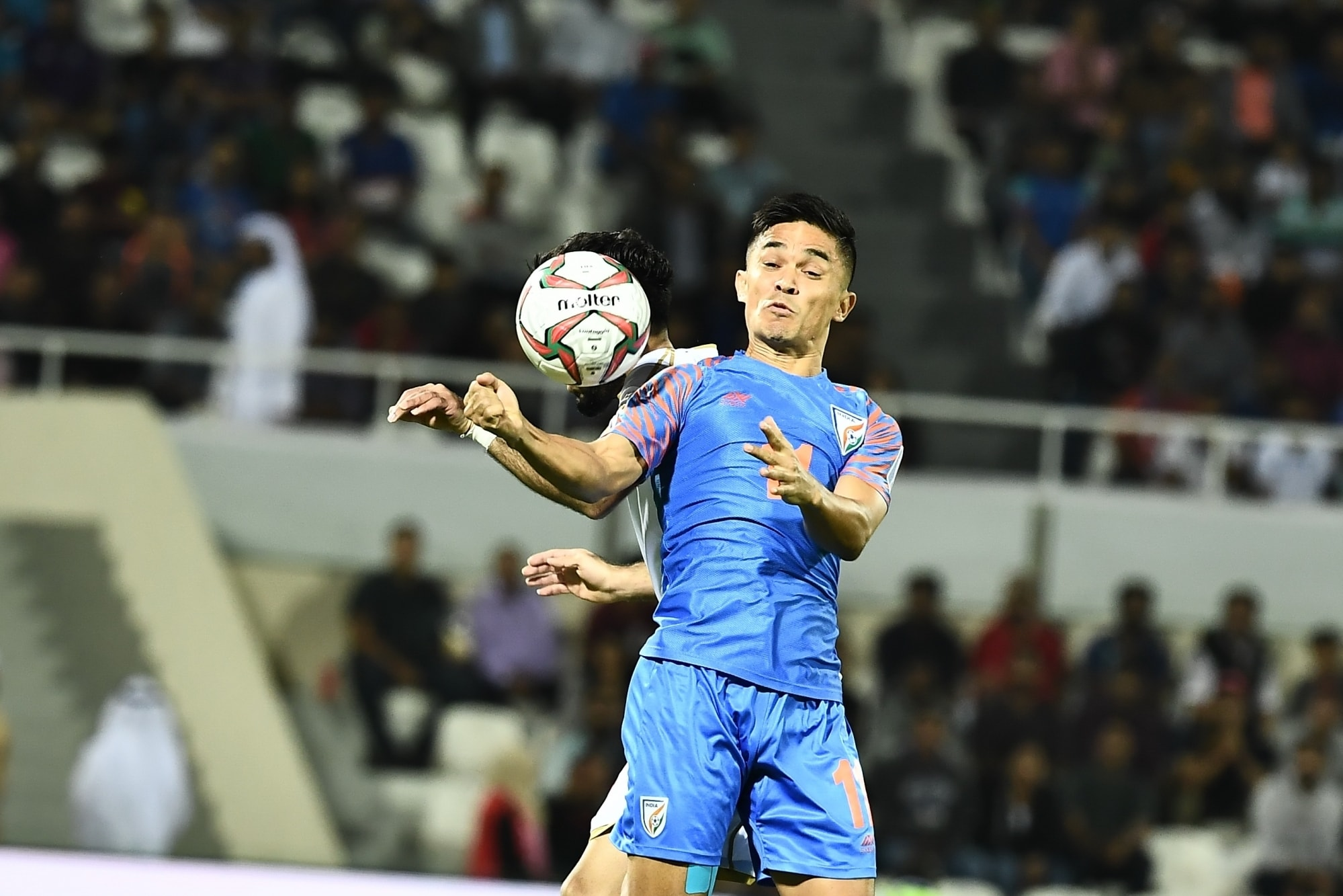 Padma Shri: Sunil Chhetri (Sports - Football): The 34-year-old Chhetri has led the Indian football team with distinction for over a decade now, and is the all-time highest scorer in the country. (Image Source: IANS)