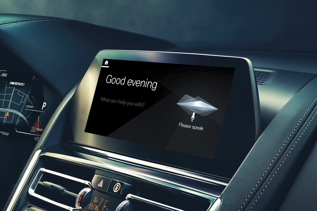 This undated image provided by BMW shows the BMW Intelligent Personal Assistant, which is the company's latest software interface. It can be controlled with a number of natural-language voice commands. (BMW via AP)
